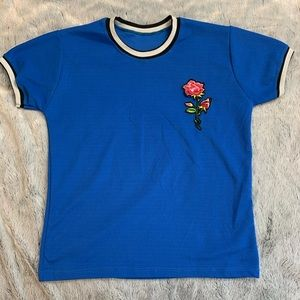 Vintage T-Shirt with Upcycled Rose